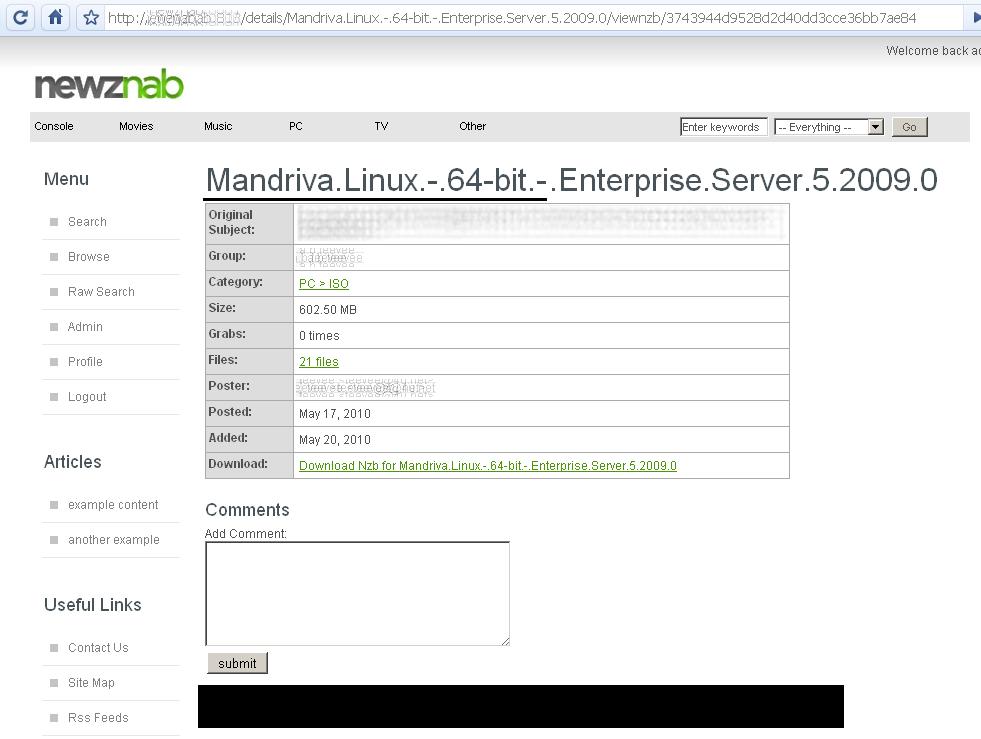 Newznab - Usenet Indexer
